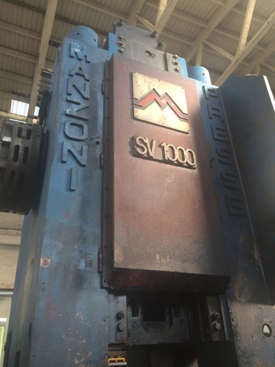 MANZONI SV 1000 Presses for hot forging of steel and titanium