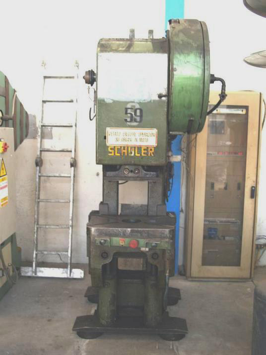 Used - Mechanical c-frame press for cold stamping - SCHULER PD 40 220